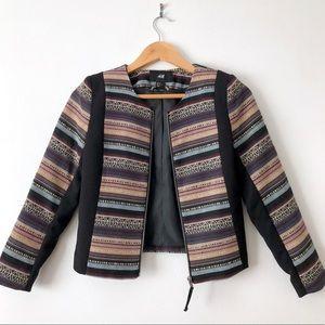 Tribal Zip Front Blazer Jacket